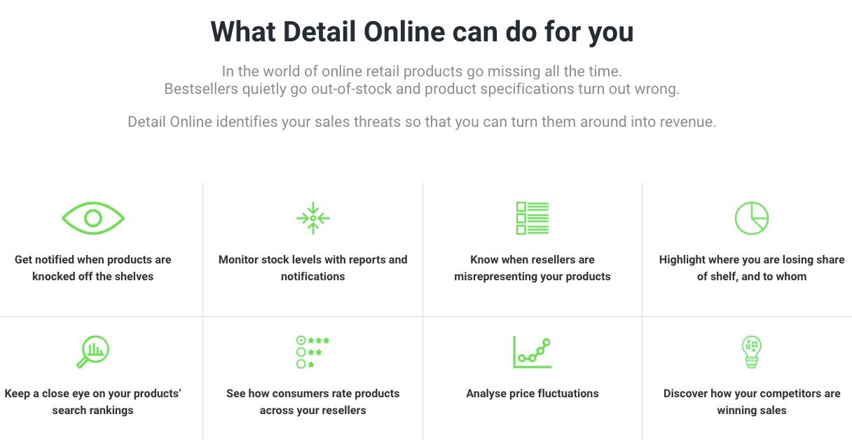 CheckoutSmart digital shelf provider DetailOnline